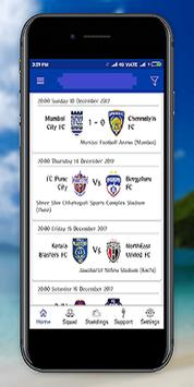 Chennaiyin FC (LiveTv,Fixtures,Standings) screenshot 5