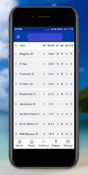 Chennaiyin FC (LiveTv,Fixtures,Standings) screenshot 2