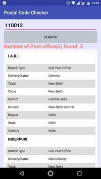 Postal Code Checker screenshot 2