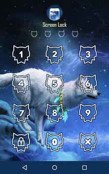Awesome Wolf Screen Lock poster