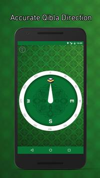 Accurate Qibla Direction: Green Edition poster