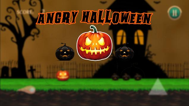 """Angry Halloween Adventure -  """" Jump & Shooter"""" poster"""