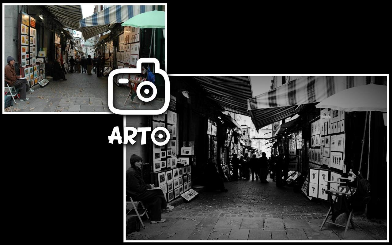 Arto lite black white photo poster