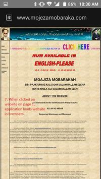 MOJEZA MOBARAKA---HAZRAT UMME KALSOOM A.S. screenshot 4