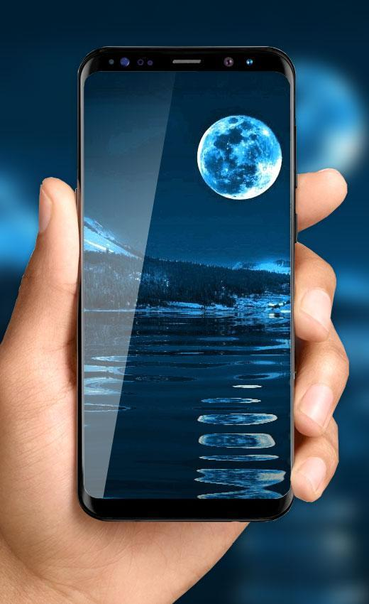 3D Moon Live Wallpaper: Earth HD Background Themes for