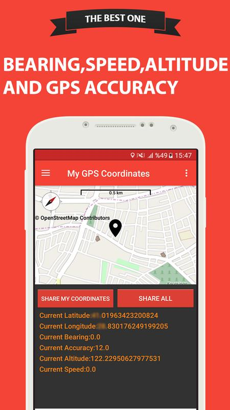 how to get gps coordinates from android