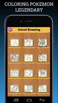 Pokemon Coloring Book Legendary screenshot 1