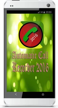 Automatic Call Recorder 2016 poster