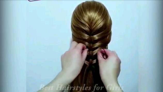 Hairstyle Tutorial For Girls screenshot 1