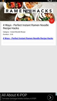 Instant Noodle Recipe screenshot 1