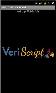 VeriScript Mobile Sales apk screenshot