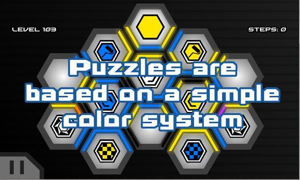 HexaWay Free - Puzzle Game apk screenshot