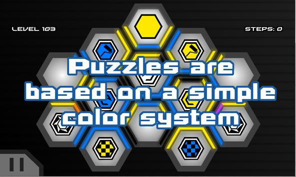 HexaWay Free - Puzzle Game screenshot 1