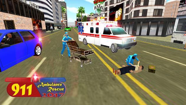 911 Emergency Ambulance Rescue - 2017 Simulator 3D apk screenshot