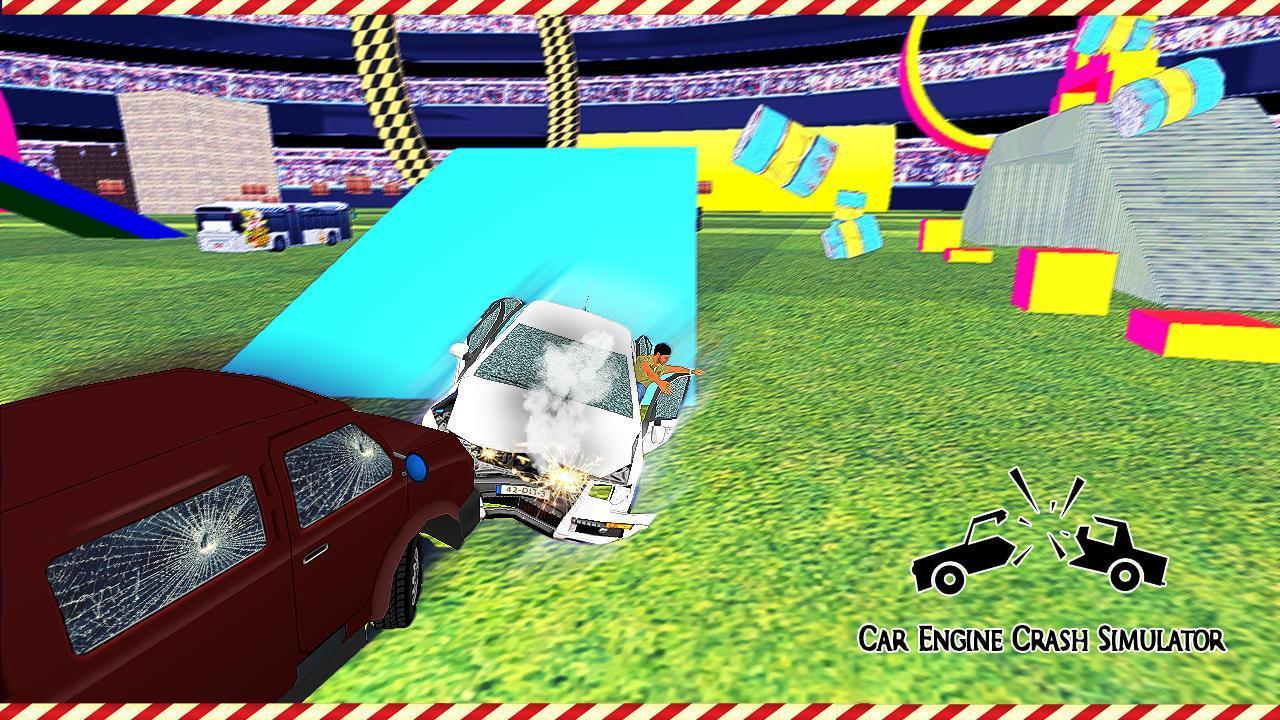 Crash Car Engine Simulator Junkyard Speed Bumps Pour Android