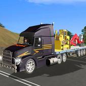 Construction Crane Transport Truck Simulator 2017 icon