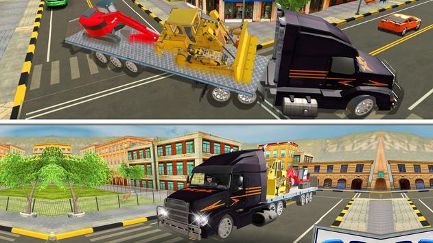 Construction Crane Transport Truck Simulator 2017 apk screenshot