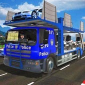 Police Robot Bike Truck Sim icon