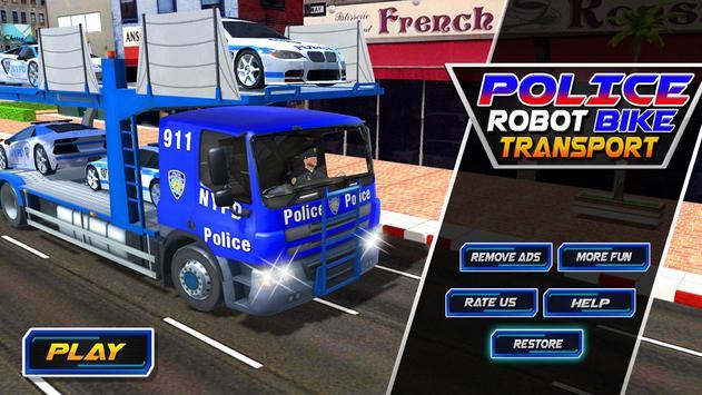 Police Robot Bike Truck Sim poster