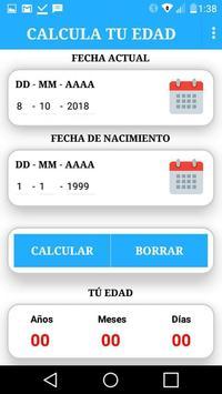 Calcula Tu Edad screenshot 1