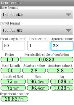 Exposure Meter apk screenshot