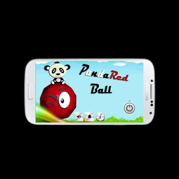 Panda Red Ball poster