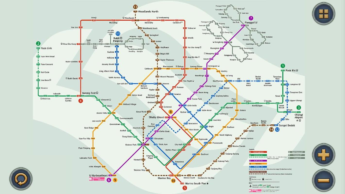 Singapore Mrt Map Route Subway Metro Transport For Android Apk