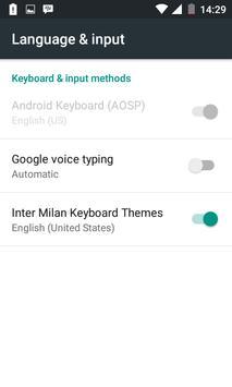 inter milan keyboard theme poster