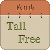 Tall Fonts Free for Android icon