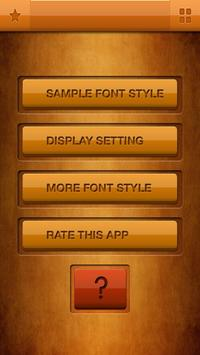 Tall Fonts Free for Android poster