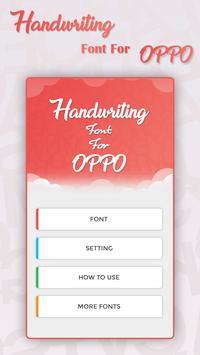 Handwriting Font for OPPO - Handwriting Fonts apk screenshot