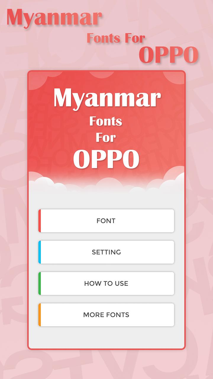 Myanmar Font for OPPO - Myanmar Fonts for Android - APK Download
