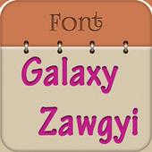 Zawgyi Design Galaxy Font icon
