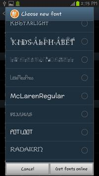 Children Fonts Free apk screenshot