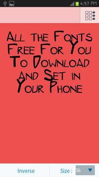 50 Fonts Free apk screenshot