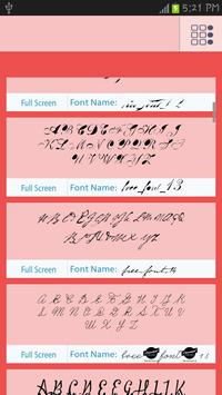 50 Love Fonts Style apk screenshot