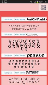 Script Fonts Free apk screenshot