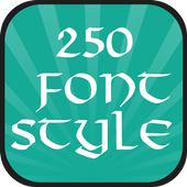250 Font Style icon