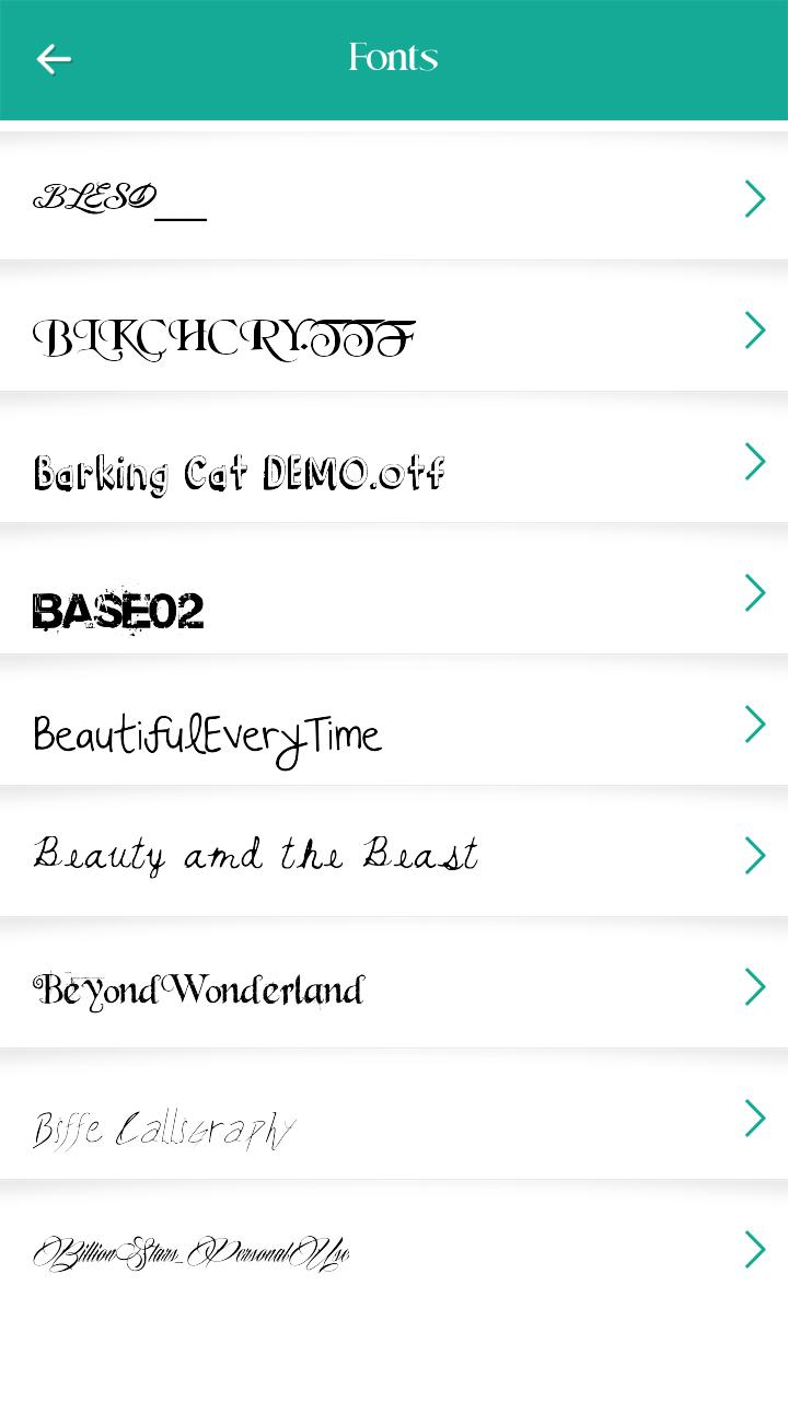 Download 250 Font Style for Android - APK Download