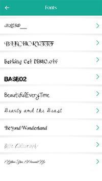 250 Font Style screenshot 1