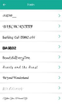 250 font style poster 250 font style apk screenshot
