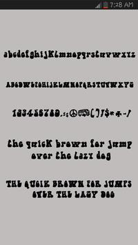 Brush Fonts for Android Screenshot 1