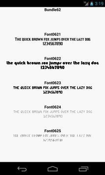 Fonts for FlipFont 62 screenshot 1