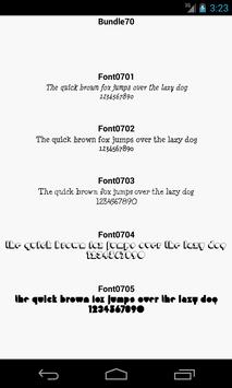 Fonts for FlipFont 70 poster