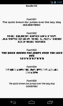 Fonts for FlipFont 103 poster