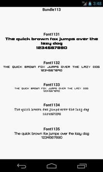 Fonts for FlipFont 113 screenshot 2