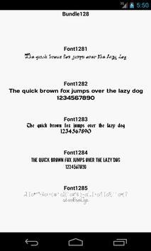 Fonts for FlipFont 128 apk screenshot