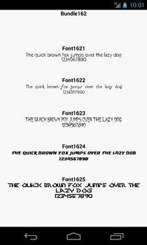 Fonts for FlipFont 162 apk screenshot