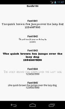 Fonts for FlipFont 184 poster