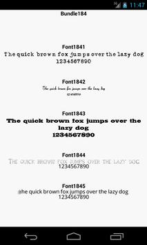 Fonts for FlipFont 184 apk screenshot